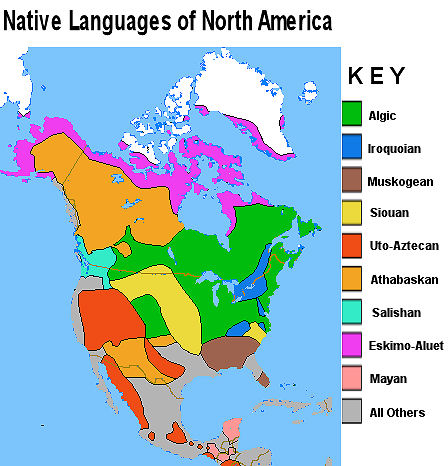 native american languages map
