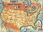 Native American Tribes by States Poster