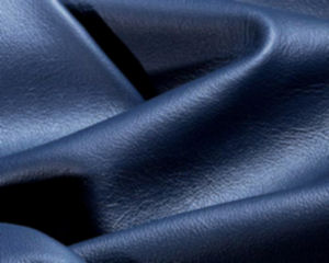 navy blue deerskin leather