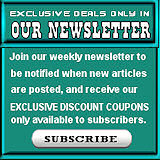 Subscribe to our newsletter to receive discounts that are only for our subscribers!