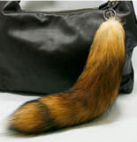 canadian red fox tail purse ornament.