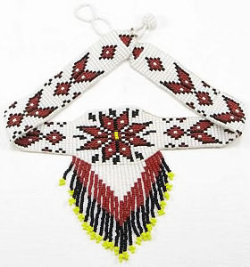 Morning Star beaded choker necklace