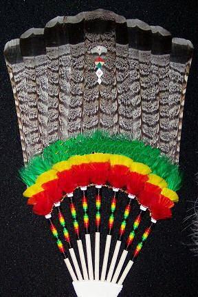 ruffled grouse tail fan