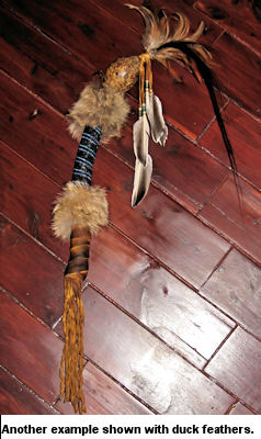 Another example of a shaman's gourd rattle