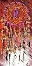 "12"" Purple Amethyst Agate Horse Hair Dreamcatcher"