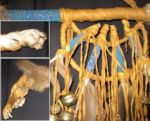 Sacred Four Coyote Dance Stick [RSI-Sacred4CoyoteStaff] - $149.95