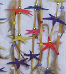 star fish detail of shark dream catcher