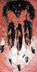 Black Fox Dreamcatcher Medicine Shield