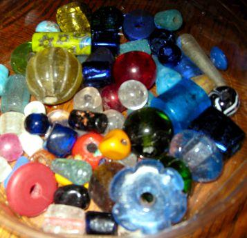 large hole glass beads