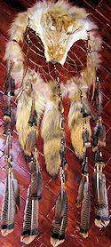 coyote   dream catcher medicine shield
