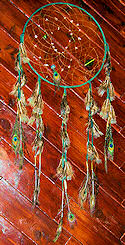 Hunter Green Peacock Dreamcatcher