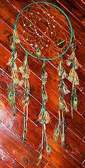 Hunter Green Peacock Dreamcatcher