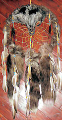 Silver Fox Dreamcatcher Medicine Shield