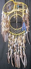 4 way antler dreamcatcher shield