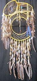 4 way antler dreamcatcher shield