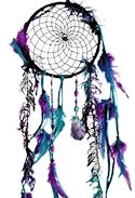 Amethyst crystal peacock dreamcatcher
