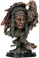 Native American Chief Sculpture