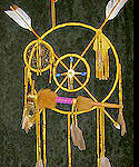 Crossed Arrows Spirit Shield with Pipe Hawk