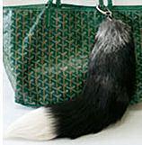 silver fox tail purse ornament.