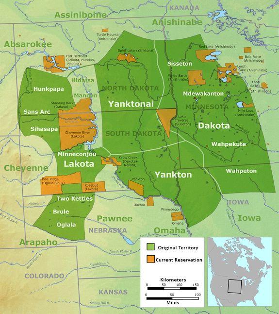 South Dakota tribes map
