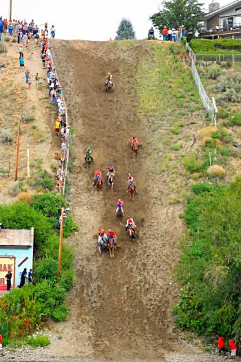 Omak Stampede Suicide Race is a traditional event for the Colville tribe.