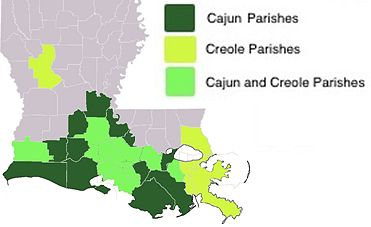 US Creole language map