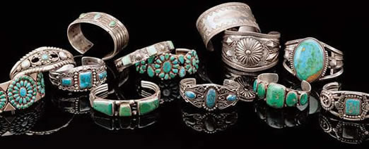 Vintage Native American jewelry was often made from melted down coins