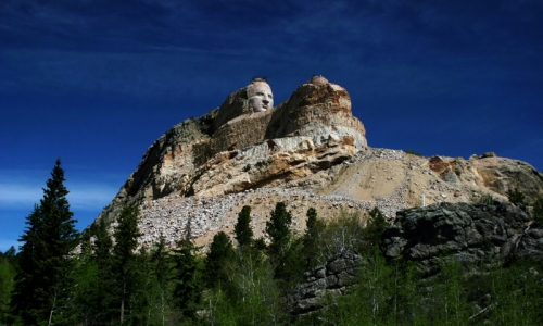 Crazy Horse Memorial full mountain view