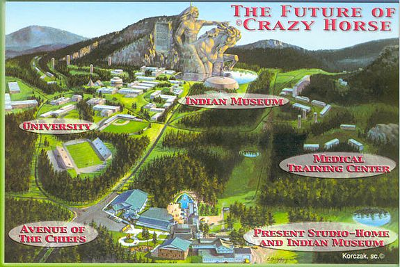 Future vision of Crazy Horse Memorial