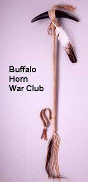 buffalo horn war club