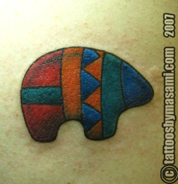 zuni bear tattoo design