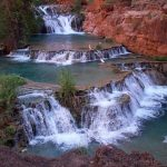 Beaver Falls in the Havasupai reservation in the Grand Canyon