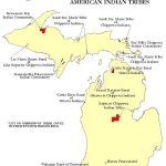 Michigan Indian Reservations Map