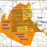 Map of present day Sioux Reservations, and their original reservation.