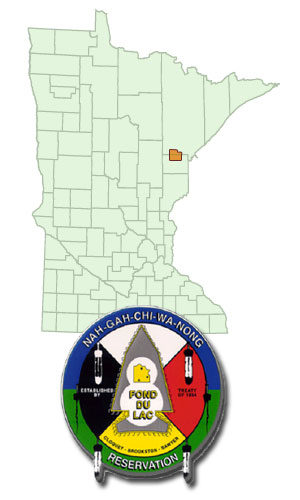 Fond du Lac Indian Reservation Map and Seal