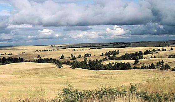 Rolling hills on Pineridge Reservation