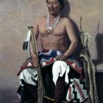 Navajo Chief Manuelito, who was acclaimed head-chief in 1855 at the conference with Governor Meriwether