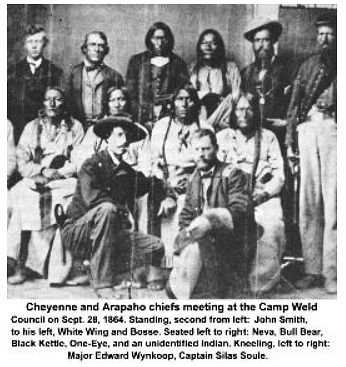 Chief Black Kettle and the Arapaho chiefs