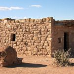 Home with outdoor oven on Hualapai Indian Reservation