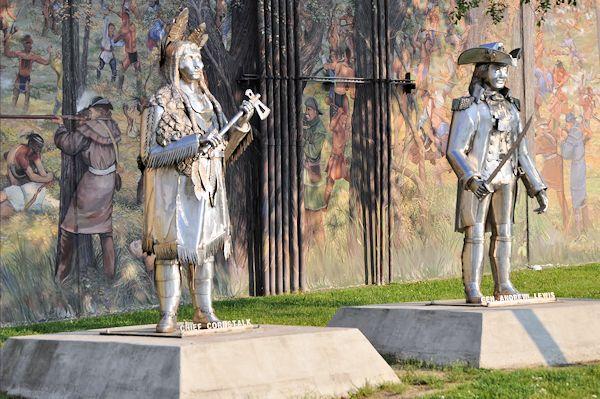 Chief Cornstalk statue at Pt Pleasant