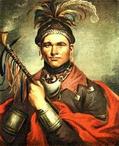 Painting of Shawnee Chief Cornstalk