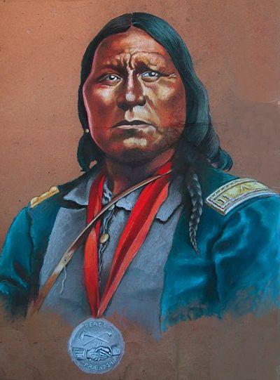 Portrait of Kiowa War Chief, Santana