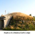 Reproduction of a Hidatsa earth lodge home
