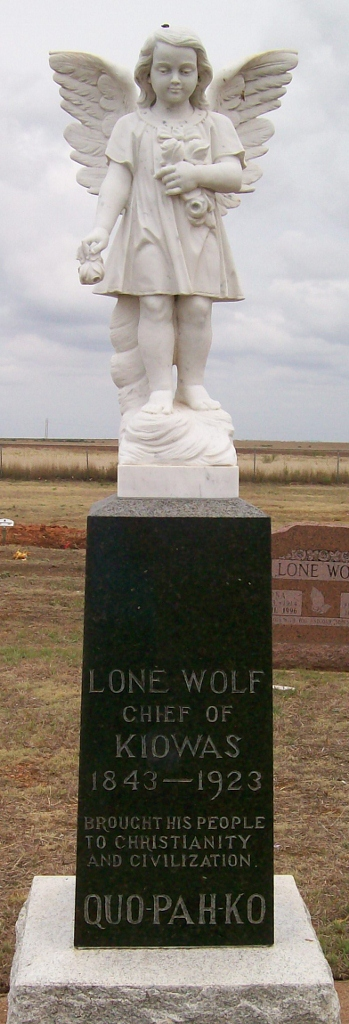 gravestone of Lone Wolf the Younger