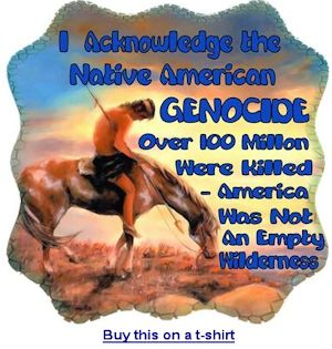 Buy this native american genocide t-shirt