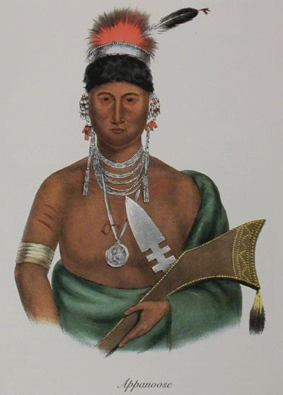 Chief Appanoose, hereditary Meswaki Fox chief