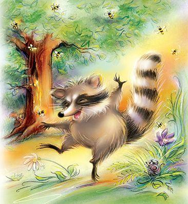 Raccoon and the Bee tree