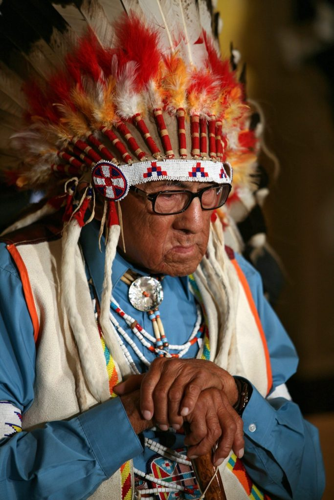 Joseph Medicine Crow receiving the Presidential Medal of Freedom in 2009