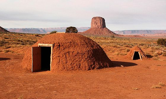 Navajo Hogan (traditional home) and Sweat Lodge