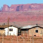 Modern homes on the Navajo Reservation